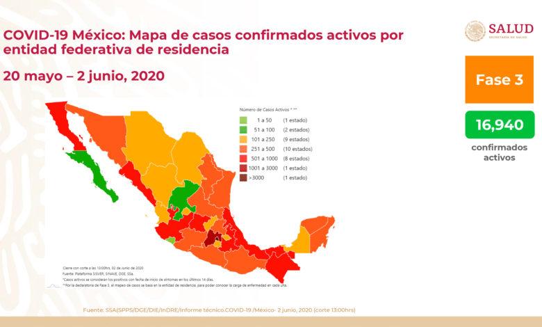 México: Suman 10,637 muertes por covid-19 y 97,326 casos confirmados