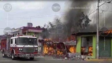 Photo of Video; Se queman dos comercios y una casa en Valle Dorado