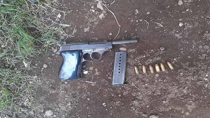 Asegura SSP arma de fuego, en Uruapan