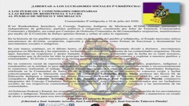 Photo of Consejo Supremo exige la liberación de luchadores sociales Purhépechas