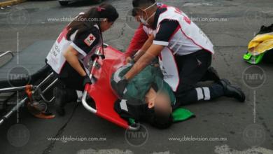 Photo of Otra de motociclista; derrape en Virrey de Mendoza y Lago de Cuitzeo