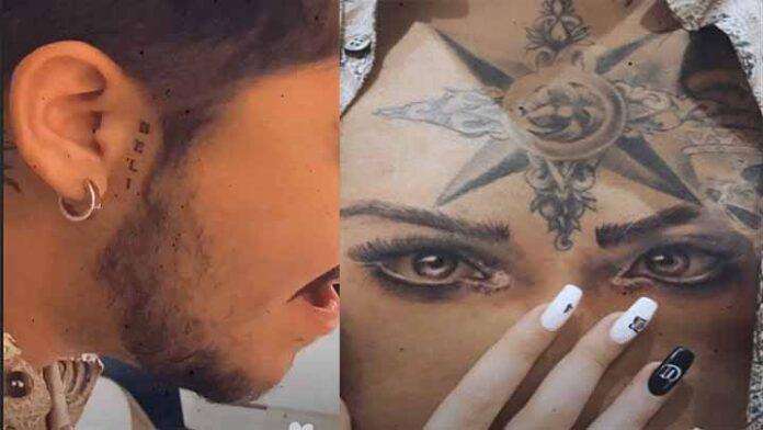Uno más a la cuenta; Cristian Nodal se tatúa la mirada de Belinda, en el pecho