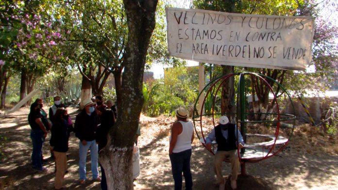 ¡Área verde no se vende! Vecinos denuncian supuesto apoderamiento de zona de convivencia
