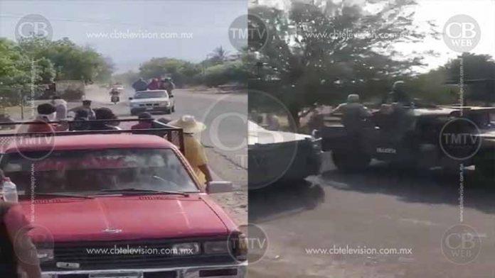 Corren al Ejército Mexicano de Aguililla
