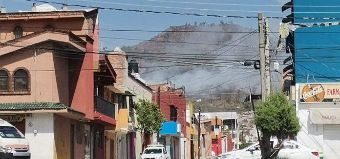 Incendio en el cerro del Punhuato dejó una afectación en 35 hectáreas