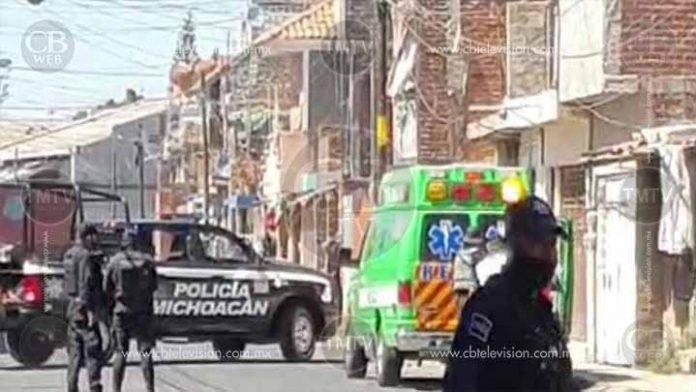 Balacera en el centro de Zamora deja un sicario herido