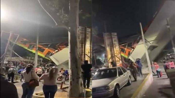 Se desploma estructura de la Línea 12 del Metro en CDMX