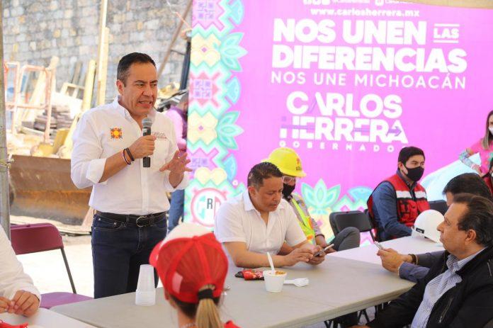 Obra pública en Michoacán, solo para empresas locales: Carlos Herrera