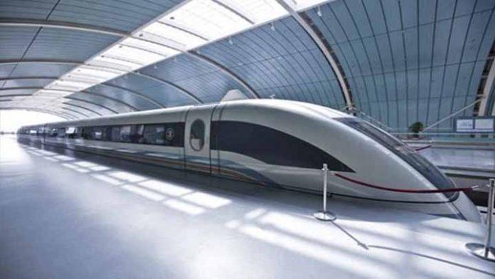 El tren que levita a una velocidad de 600 km/h