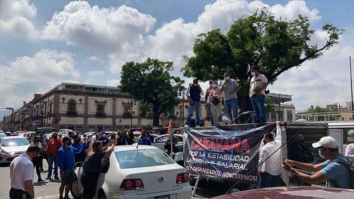 CNTE bloquea Aeropuerto de Morelia y planea otras actividades en esta semana