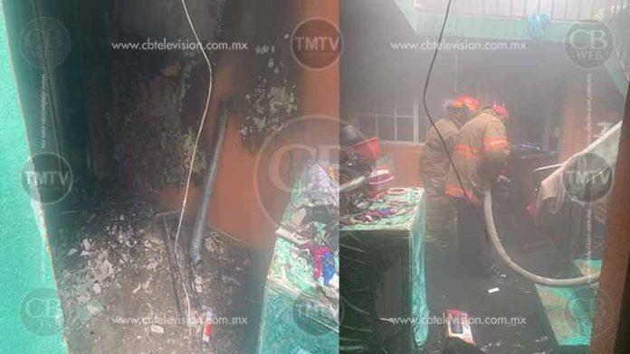 Se quema vivienda en Zitácuaro; dejaron veladora encendida